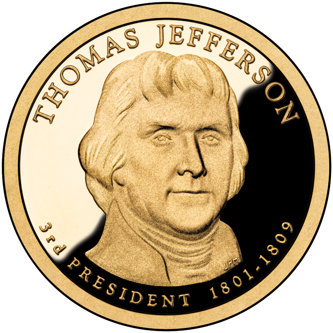 Jefferson dollar; U.S. Mint image via Associated Press