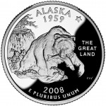 2008 50 State Quarters Coin Alaska Proof Reverse