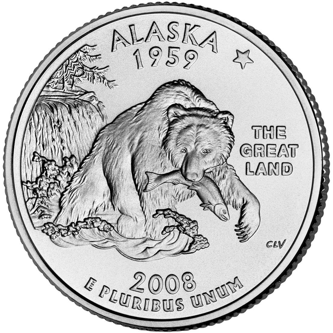 2008 50 State Quarters Coin Alaska Uncirculated Reverse