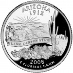 2008 50 State Quarters Coin Arizona Proof Reverse