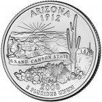 2008 50 State Quarters Coin Arizona Uncirculated Reverse