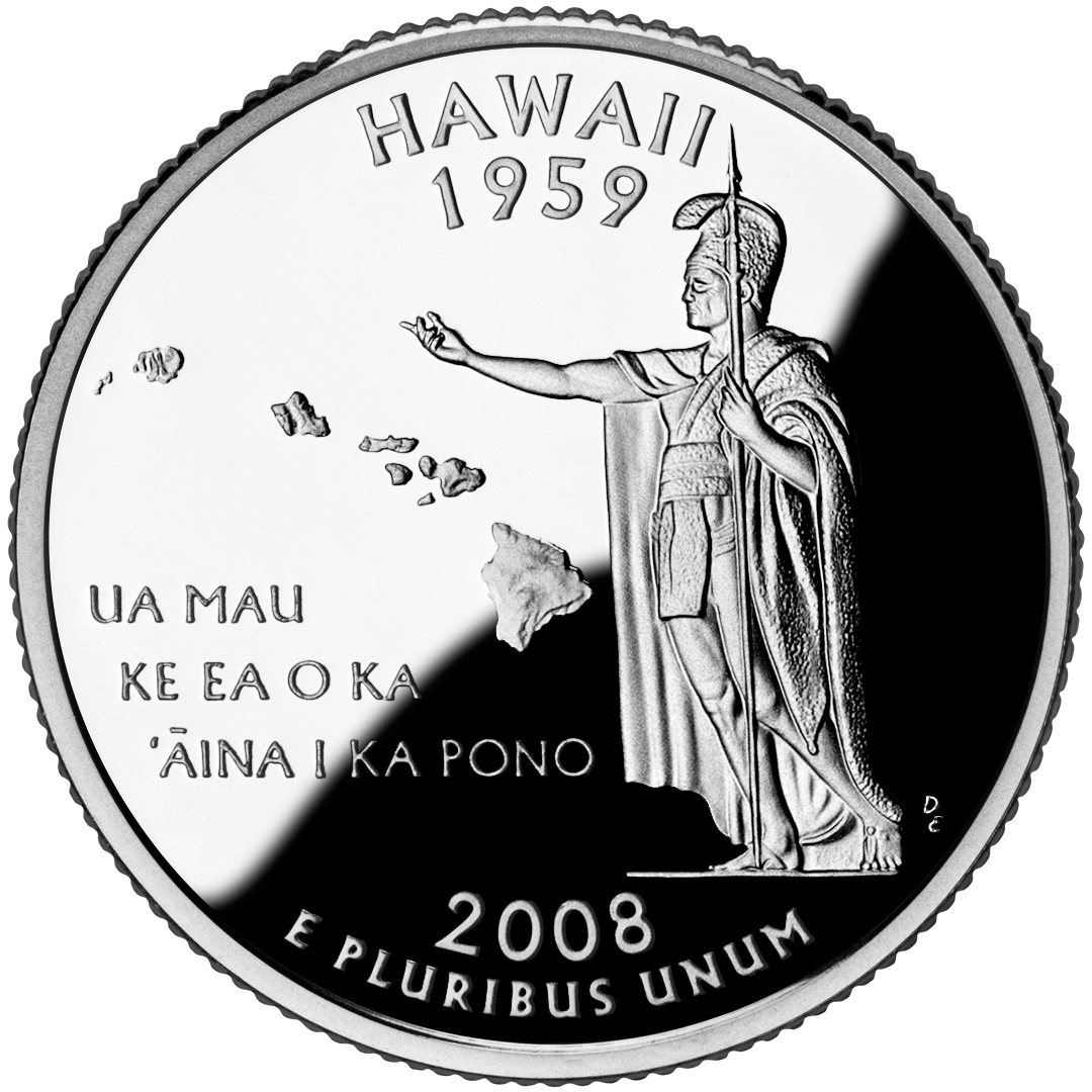 2008 50 State Quarters Coin Hawaii Proof Reverse