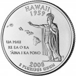 2008 50 State Quarters Coin Hawaii Uncirculated Reverse
