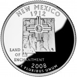 2008 50 State Quarters Coin New Mexico Proof Reverse