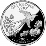 2008 50 State Quarters Coin Oklahoma Proof Reverse
