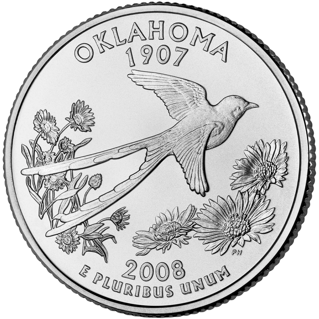 2008 50 State Quarters Coin Oklahoma Uncirculated Reverse