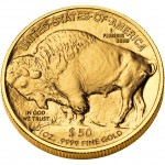 2008 American Buffalo One Ounce Gold Uncirculated Coin Reverse