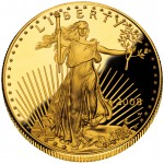 2008 American Eagle Gold One Ounce Proof Coin Obverse