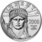 2008 American Eagle Platinum One Ounce Bullion Coin Obverse