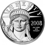 2008 American Eagle Platinum One Ounce Proof Coin Obverse