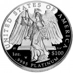 2008 American Eagle Platinum One Ounce Proof Coin Reverse