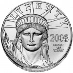 2008 American Eagle Platinum One Ounce Uncirculated Coin Obverse