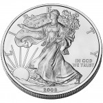 2008 American Eagle Silver One Ounce Bullion Coin Obverse