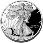 2008 American Eagle Silver One Ounce Proof Coin Obverse