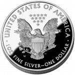 2008 American Eagle Silver One Ounce Proof Coin Reverse