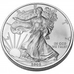 2008 American Eagle Silver One Ounce Uncirculated Coin Obverse