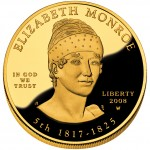 2008 First Spouse Gold Coin Elizabeth Monroe Proof Obverse