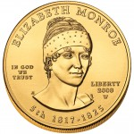 2008 First Spouse Gold Coin Elizabeth Monroe Uncirculated Obverse
