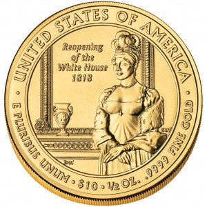 2008 First Spouse Gold Coin Elizabeth Monroe Uncirculated Reverse