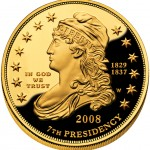 2008 First Spouse Gold Coin Jackson Liberty Proof Obverse