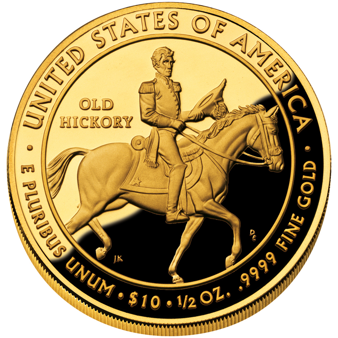 2008 First Spouse Gold Coin Jackson Liberty Proof Reverse
