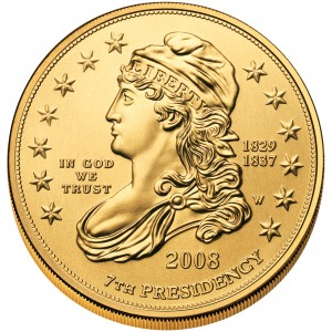 2008 First Spouse Gold Coin Jackson Liberty Uncirculated Obverse