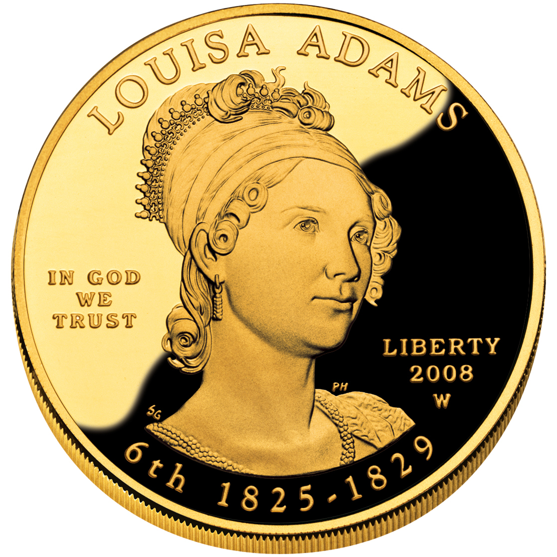 2008 First Spouse Gold Coin Louisa Adams Proof Obverse