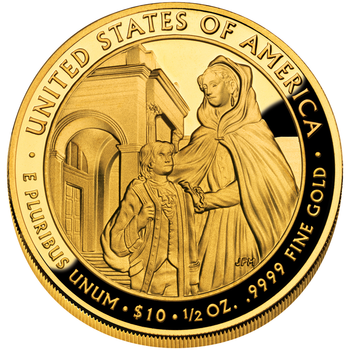 2008 First Spouse Gold Coin Louisa Adams Proof Reverse