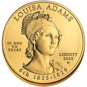 2008 First Spouse Gold Coin Louisa Adams Uncirculated Obverse