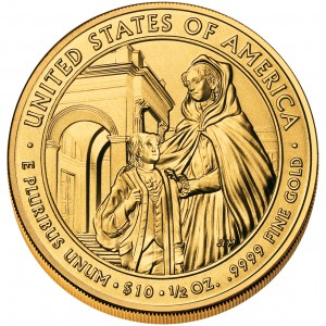 2008 First Spouse Gold Coin Louisa Adams Uncirculated Reverse