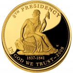 2008 First Spouse Gold Coin Van Buren Liberty Proof Obverse