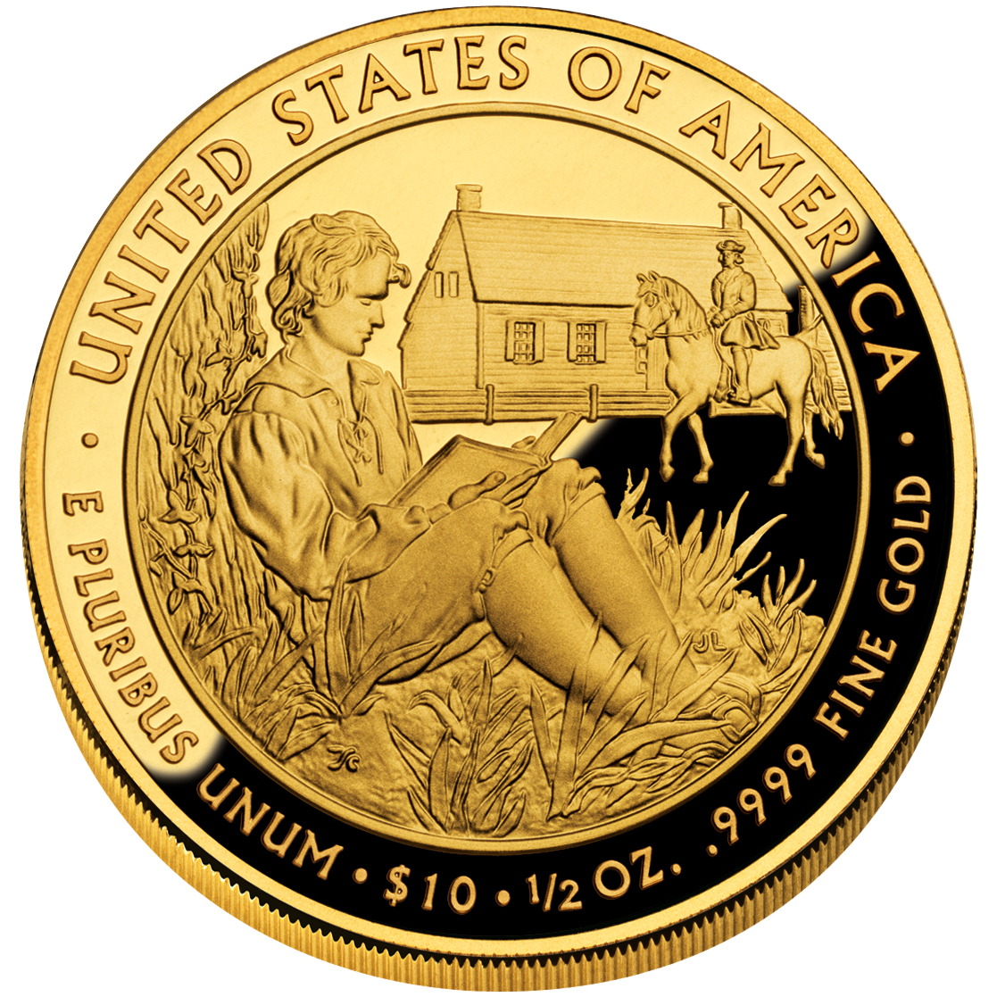 2008 First Spouse Gold Coin Van Buren Liberty Proof Reverse