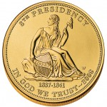 2008 First Spouse Gold Coin Van Buren Liberty Uncirculated Obverse