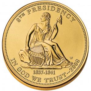 2008 First Spouse Gold Coin Van Buren Liberty Uncirculated Obverse