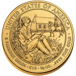 2008 First Spouse Gold Coin Van Buren Liberty Uncirculated Reverse