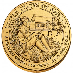 2008 First Spouse Gold Coin Van Buren Liberty Uncirculated Reverse