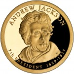 2008 Presidential Dollar Coin Andrew Jackson Proof Obverse