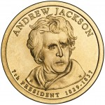 2008 Presidential Dollar Coin Andrew Jackson Uncirculated Obverse