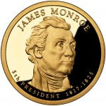2008 Presidential Dollar Coin James Monroe Proof Obverse