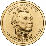 2008 Presidential Dollar Coin James Monroe Uncirculated Obverse