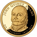 2008 Presidential Dollar Coin John Quincy Adams Proof Obverse