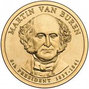 2008 Presidential Dollar Coin Martin Van Buren Uncirculated Obverse