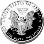 2009 American Eagle Silver One Ounce Proof Coin Reverse