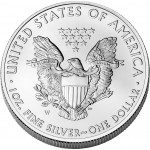 2009 American Eagle Silver One Ounce Uncirculated Coin Reverse
