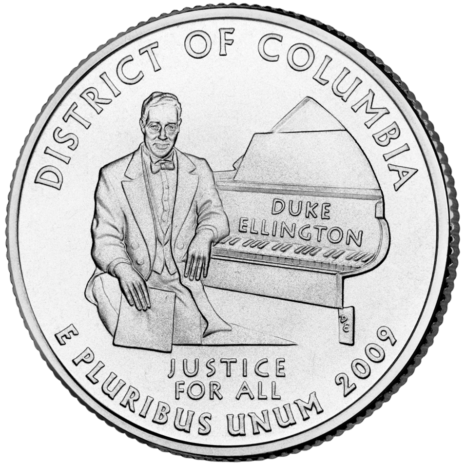 2009 DC US Territories Quarters Coin District Of Columbia Uncirculated Reverse