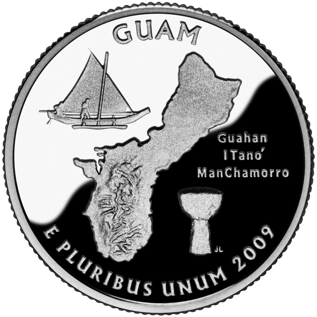 2009 DC US Territories Quarters Coin Guam Proof Reverse