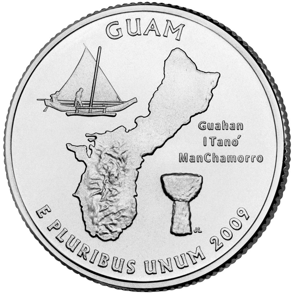 2009 DC US Territories Quarters Coin Guam Uncirculated Reverse