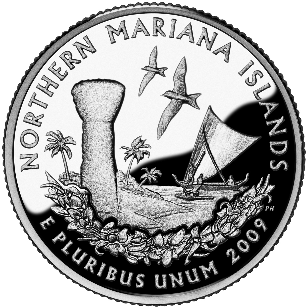 2009 DC US Territories Quarters Coin Northern Mariana Islands Proof Reverse
