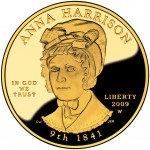 2009 First Spouse Gold Coin Anna Harrison Proof Obverse