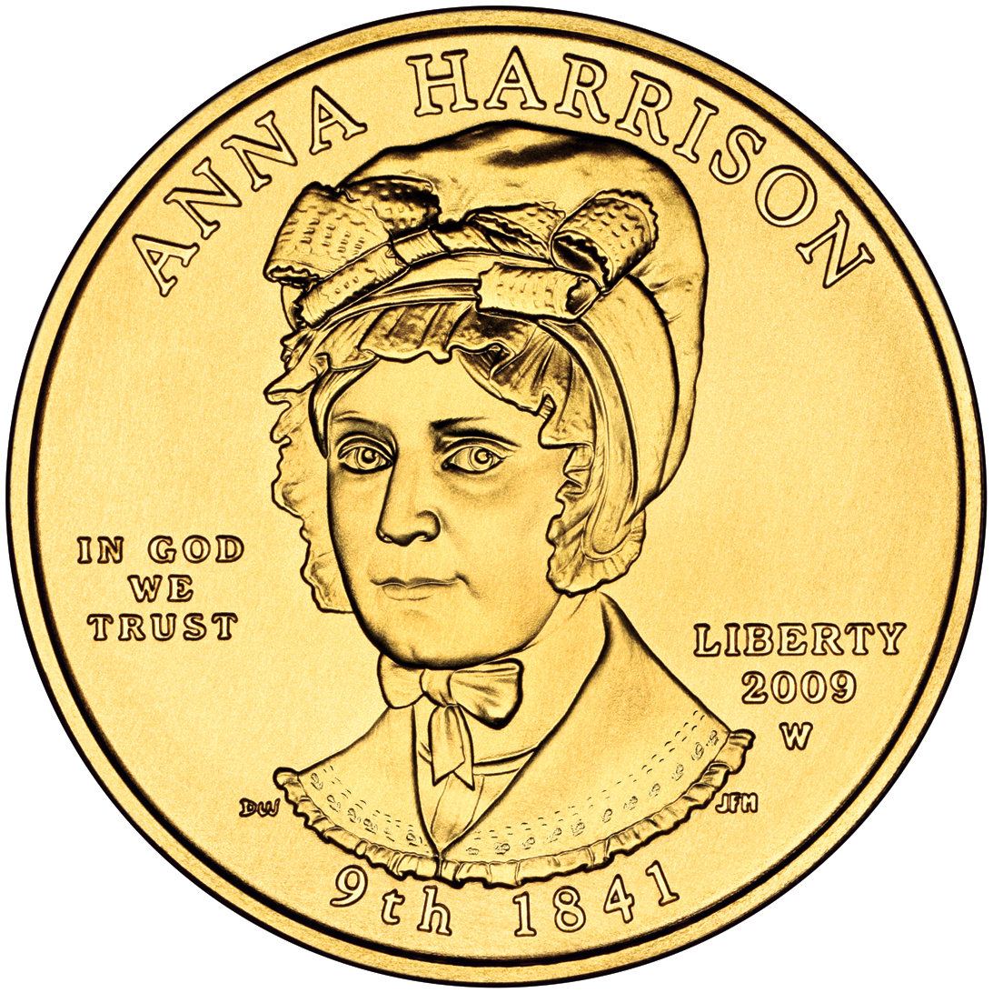 2009 First Spouse Gold Coin Anna Harrison Uncirculated Obverse